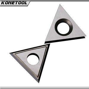 Lame de grattoir triangulaire en carbure E-60 ° x 1,5 mm - 25 °